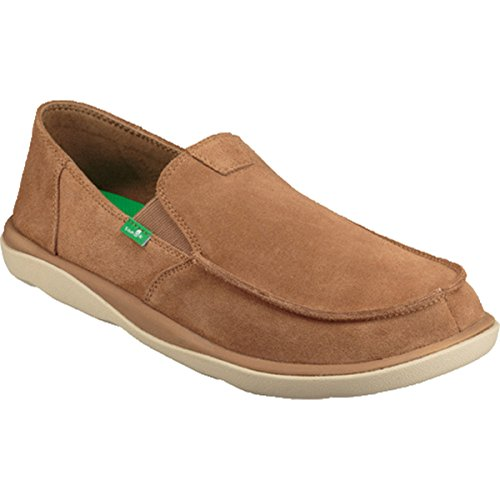 Sanuk Men's Vagabond Tripper Suede Loafer, Light Brown, 08 M US