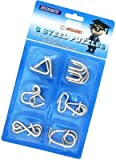 Jiada™ Stainless Steel 6 Intellectual Wired Puzzles For All Age Groups - Suitable for all Age Group: Kids, Young, Adults.