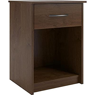 Mainstays Nightstand Side End Table, Multiple Finishes