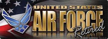 - Air Force Retired Bumper Strip Magnet