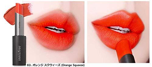 帝国の前でアコー[イニスフリー] innisfree [リアル フィット マット リップスティック 3.6g ] Real Fit Matte Lipstick 3.6g [海外直送品] (03. オレンジ スクウィーズ (Orange Squeeze))