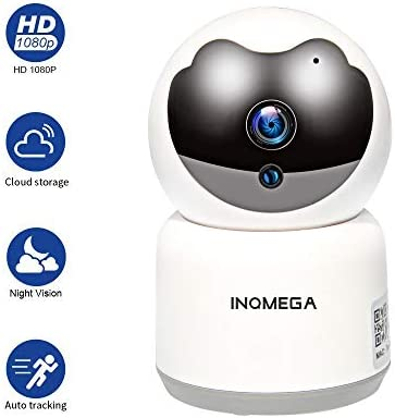 INQMEGA Security WiFi Camera, Wireless Camera with Night Vision Two-Way Audio, Indoor Pan Tilt 2.4Ghz Home Dome Camera for Baby Elder Pet, Remote Monitor Support SD Card, Android, iOS App