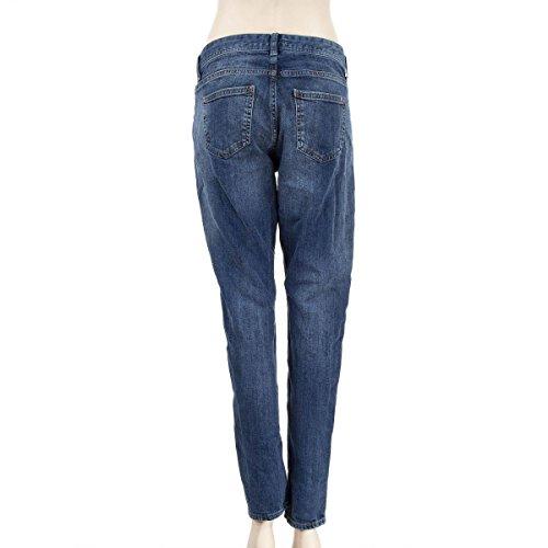 femme jeans DDP coupe Bleu stone Mom droite 8UqHvxZgw