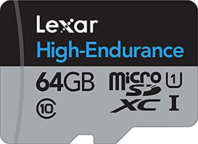 Lexar High-Endurance Microsdxc 64GB UHS-I Cardwith SD Adapter - LSDMI64GBBNLHEA from CRUCIAL TECHNOLOGY