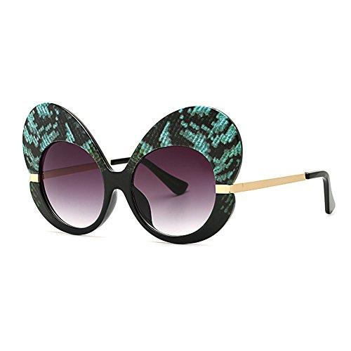Cat Frame soleil femmes Oversize soleil Mode de lunettes Butterfly lunettes C12 lunettes Eye de Inlefen 5Rz4gaW