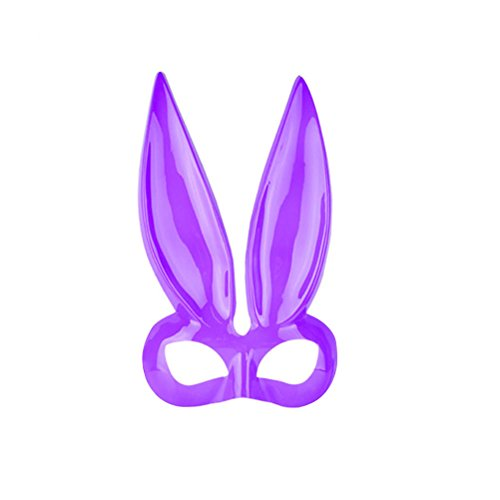 BESTOYARD Men Women Masquerade Bunny Rabbit Face Mask Halloween Costume Party Prom Mask for Cosplay (Purple) for $<!--$6.05-->