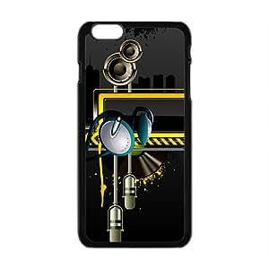 Creative Black Building Pattern Custom Protective Hard Phone Cae For Iphone 6 Plus