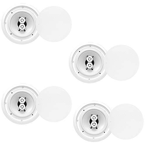 Pyle 6.5 Inch 300W Home Audio in Ceiling or Outdoor Speaker Waterproof (4 (Best Vm Audio Home Audio Speakers)