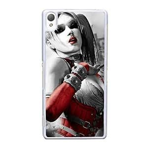 caja del teléfono celular Funda Sony Xperia Z3 funda blanca de Batman Arkham G8E1SG ciudad xbox