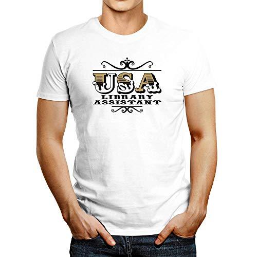 (Idakoos USA Library Assistant T-Shirt L)