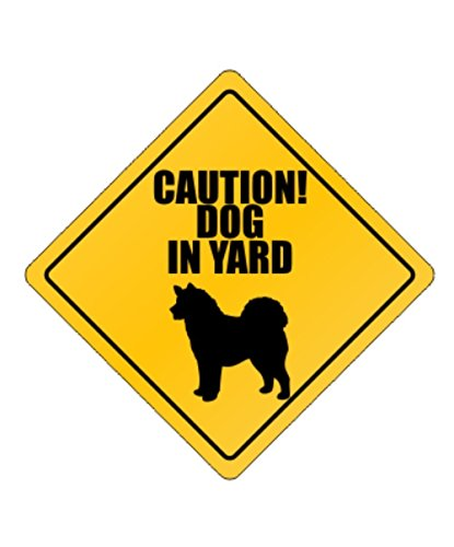 Dog in Yard Alaskan Malamute - Dogs [ Decorative Crossing Sign Wall Plaque ] (Dog Crossing)