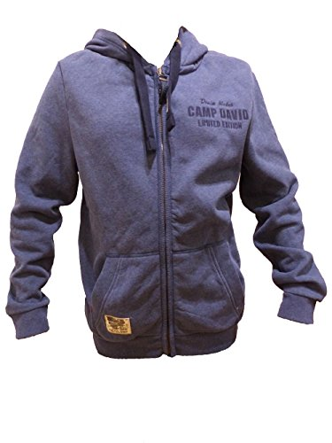CAMP DAVID SWEATJACKET WITH HOOD BLUE NAVY MELANGE FLAG FLASH CCD-1709-3982 XL