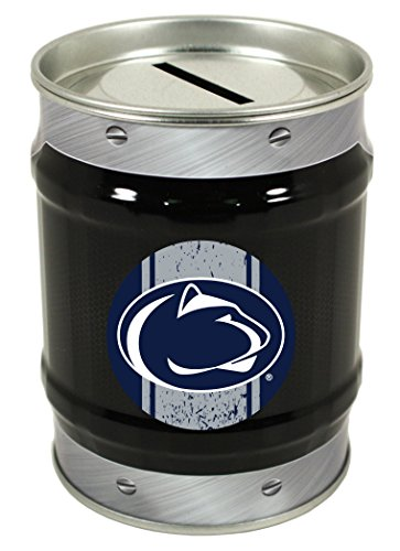 NCAA-PENN STATE NITTANY LIONS COIN BANK-PENN STATE UNIVERSITY TIN BANK-NEW FOR 2016! ()