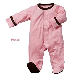 Babysoy Footie   (Baby) - Pink Lemonade-6-12 Months