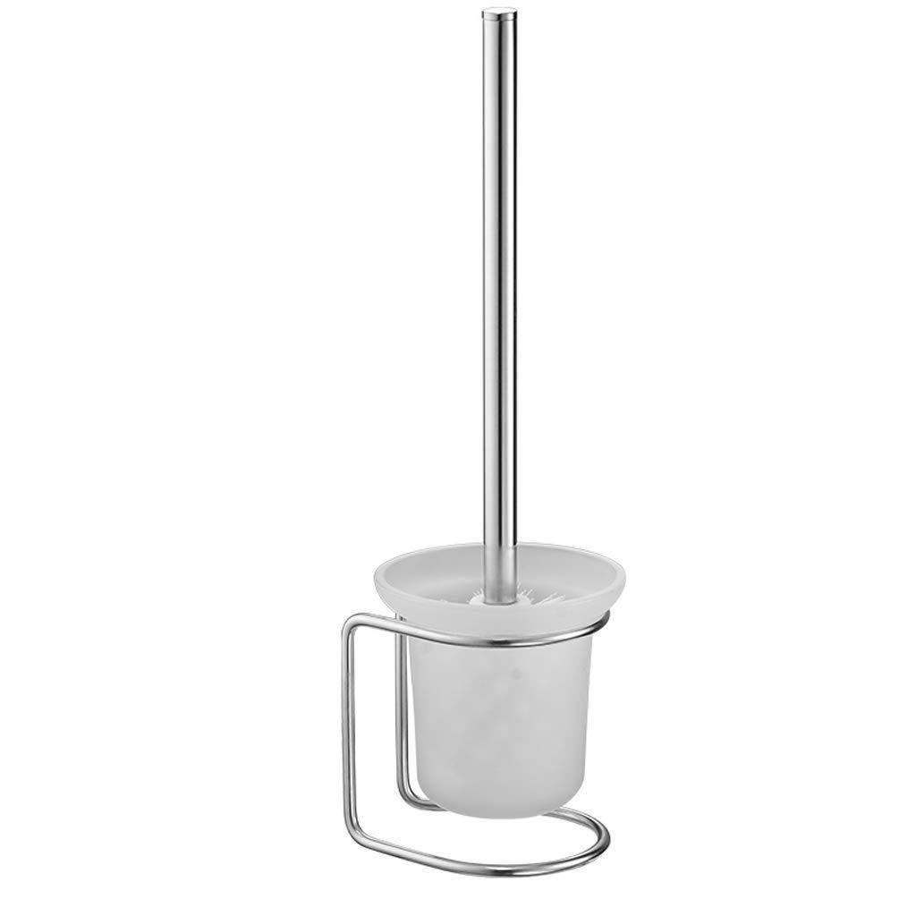 YXN Toilet Brush Holder Fre0.e Punching Floor Type Toilet Brush Holder 304 Stainless Steel Bathroom Toilet Brush Toilet Brush Holder H36.5 cm Silver