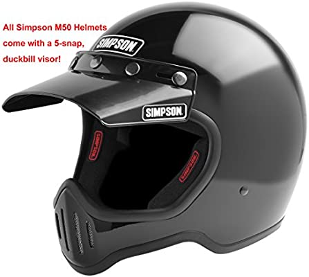 Simpson M50DM6 Model 50 Dot Helmet Med Yellow