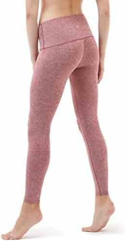 TSLA Yoga Pants Mid-Waist Leggings w Hidden Pocket FYP51/FYP41