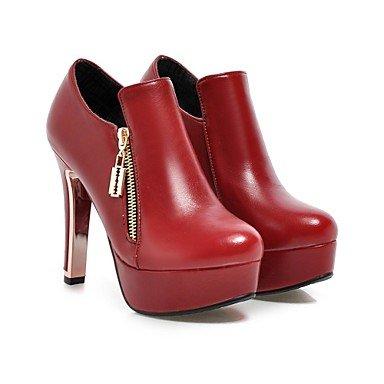 CH&TOU Da donnaFormale Casual-Stivali-A stiletto-Finta pelle-Nero Marrone Rosso Beige , us10.5 / eu42 / uk8.5 / cn43
