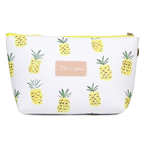 Me Plus Women Small Portable Travel Cosmetic Organizer Clutch Pouch Bag with Zipper Closure (10 Patterns)