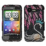 MYBAT Swan Diamante Phone Protector Cover compatible with HTC ADR6350 (Droid Incredible 2)
