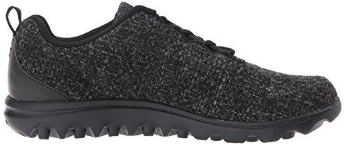 BlackGrey Walking Dark Women's Shoe TravelActiv Woven Propét Grey xnXPTHwx
