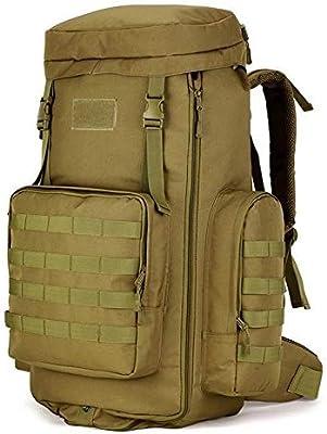 Huntvp 70-85L T/áctical Militar Mochila de Asalto Gran Bolsa de Hombro Impermeable para Las Actividades Aire Libre Senderismo Caza Viajar Color Negro Marr/ón