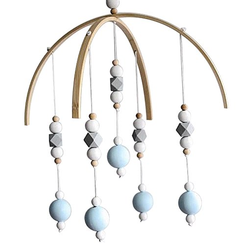 le Crib Bed Bell Baby Bedroom Ceiling Wooden Beads Wind Chime Hanging Ornament (#12) ()