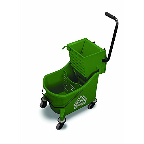 O-Cedar Commercial Maxi Plus Mop Bucket and Wringer, Green by O-Cedar Commercial