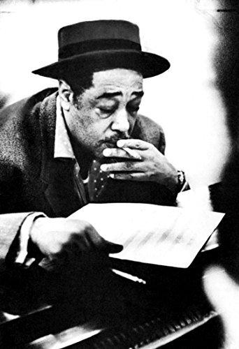 Duke ellington poster at the piano smoking a cig jazz musician