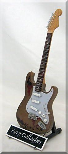 Rory gallgher miniatura guitarra Oasis W/Nombre de etiqueta ...