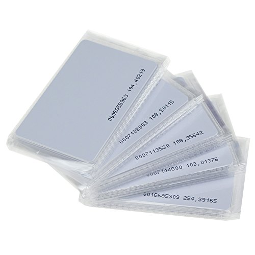 HFeng 100pcs 125KHz EM4100 TK4100 Card RFID Contactless Access Control KeyCard NFC Smart White Blank Proximity ID Cards