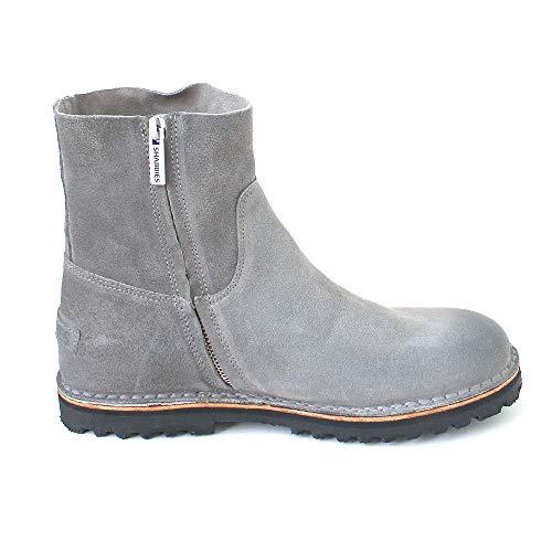 Shabbies Stiefelette Amsterdam grigio da Boots cerato scamosciato Grau donna zPxzRrq6