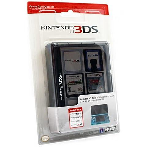 Nintendo 3DS Game Card Case 24 - Black - Game Card Holder