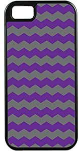 Blueberry Design Apple iPhone 4 Case iPhone 4S Case Zigzag Wave Design Purple and Grey - Ideal Gift