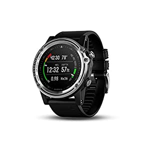 Garmin Descent Mk1, Watch-Sized Dive Computer with Surface GPS, Includes Fitness Features, Silver/Black (Renewed)