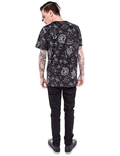 T-Shirt Iron Fist – Peace Out Graphic Droptail noir taille: L (Large)