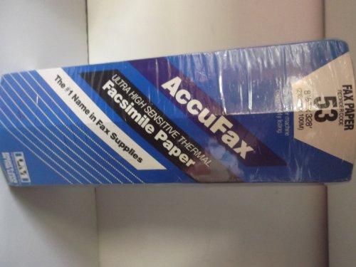 Accufax Fax Paper (Accufax Fax Paper... Ultra High Sensitive Thermal Fascimile Paper ... 53... 8.5x328')