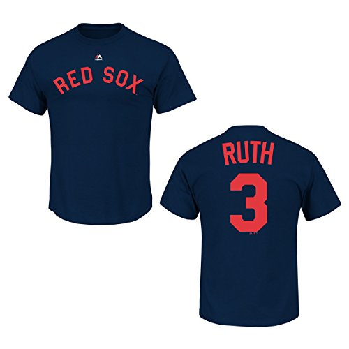 Babe Ruth Boston Red Sox Navy Cooperstown Player Jersey Name and Number T-shirt Small Babe Ruth Numbers