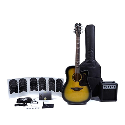 Keith Urban Acoustic-Electric Ripcord 40-piece Guitar Package - Brazilian Burst (Learn To Play Guitar Package)