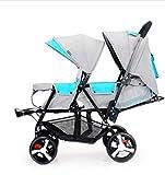 360 Degree Universal Wheel Twin Baby Stroller Double Stroller