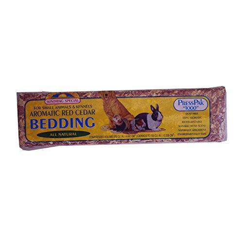 Small Animal Supplies Cedar Pressed 1000Ci 12/Bale (Cedar Pressed Bedding)