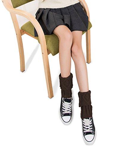 Dahlia Kvinners Strikk Boot Cuff - Fold Cuff Diamond Brun