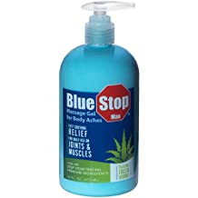 Blue Stop Max Massage Gel for Body Aches,16oz