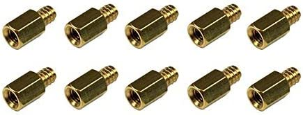 #6-32 to M3 iMBAPrice Replacement PC Motherboard Mounting Metal Jack Screw Bass Standoff 10 Pack