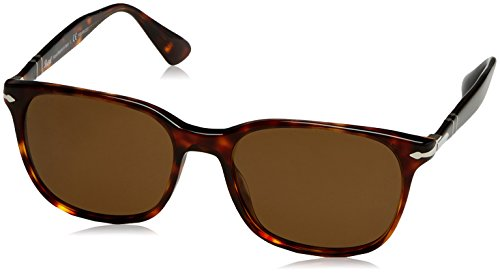 Persol Man Sunglasses, Tortoise Lenses Acetate Frame, 56mm (Sunglasses Men Persol)