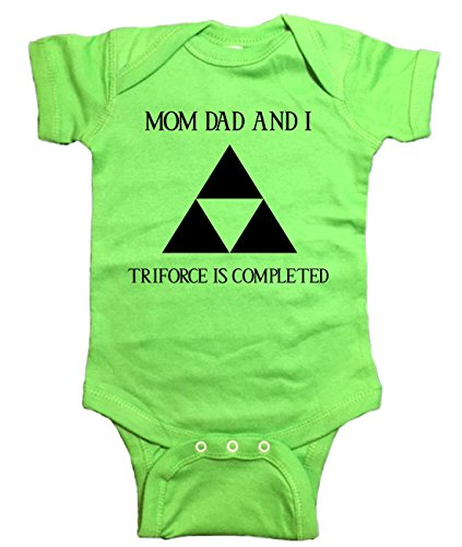 "Zelda One Piece ""Family Triforce"" Bodysuit (6 Month, Green)"