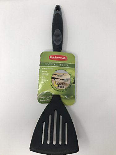 Rubbermaid Slotted Turner with Clean Rest Heat Resistant Dishwasher Safe
