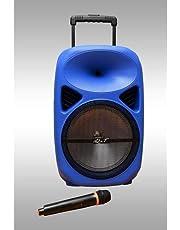iQ&T A28 - Loud Speaker 700 Watt- Wirless Mic- BT- USB- Guiter Input- Equalizer- Disco Light- 5A Lead Acid Battery ( 5 Hours )- Blue