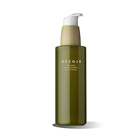 Jeju Cleansing Peeling Gel To Foam, Revitalizing Facial Cleanser for Sensitive and Oily Skin, Removes Sebum and Dead Skin ACCOJE