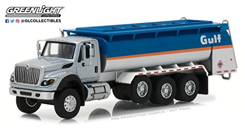 Kenworth Tanker - Greenlight BRAND NEW DIECAST 1:64 SD TRUCKS SERIES 4-2018 INTERNATIONAL WORKSTAR TANKER TRUCK - GULF OIL 45040-C